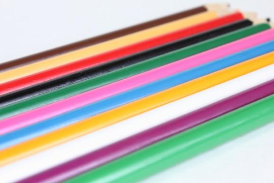 色鉛筆の持つところ