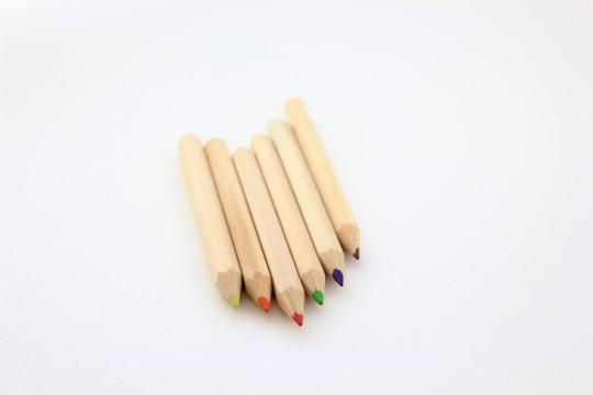色鉛筆斜めに整列