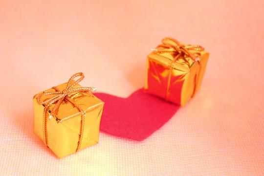 プレゼントとハート3