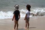 浜辺の双子