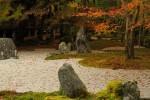 枯山水の日本庭園と紅葉