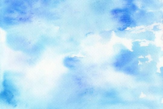 青い水彩のテクスチャ