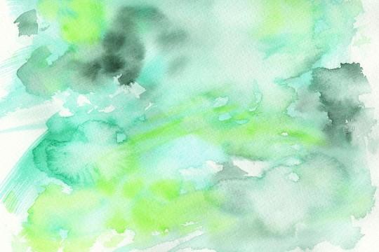 緑の水彩のテクスチャ