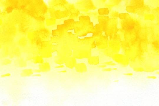 黄色の水彩のテクスチャ