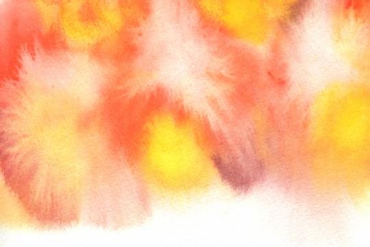 オレンジ色の水彩のテクスチャ