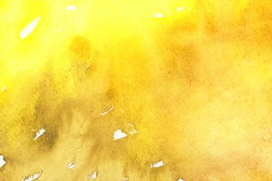 黄色の水彩のテクスチャ2