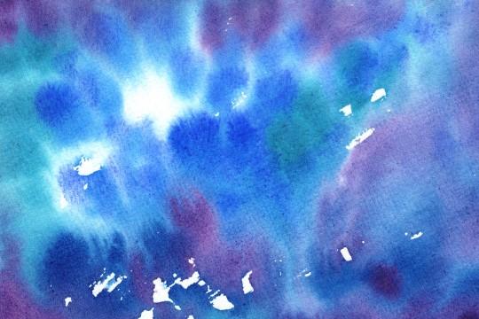 濃い青紫の水彩のテクスチャ