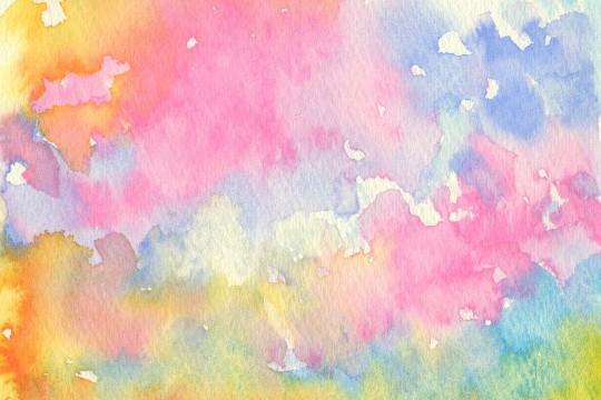 カラフルな水彩のテクスチャ