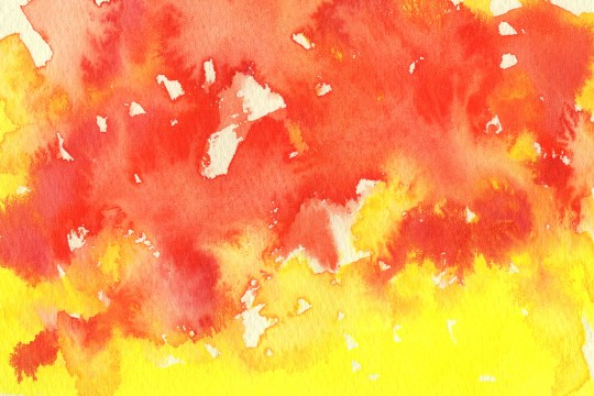 赤と黄色の水彩のテクスチャ