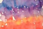 夕焼っぽい水彩のテクスチャ