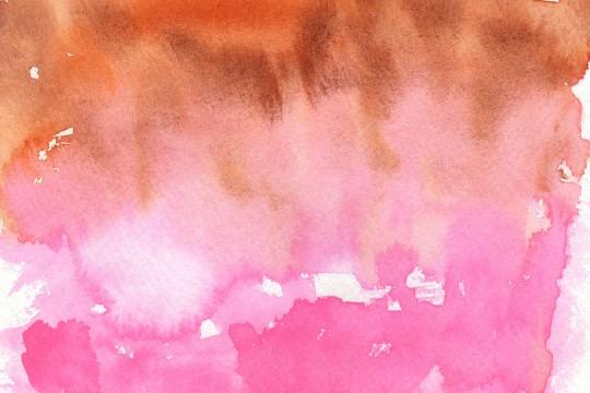 茶色とピンクの水彩のテクスチャ