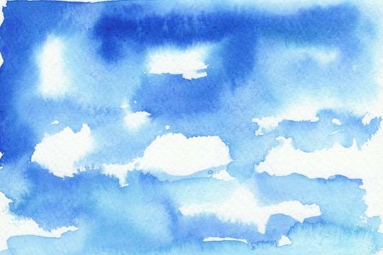 青空の水彩のテクスチャ