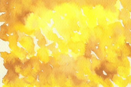 黄色の水彩のテクスチャ3