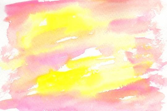 春色の水彩のテクスチャ