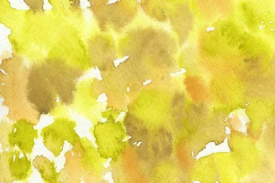 渋い緑の水彩のテクスチャ