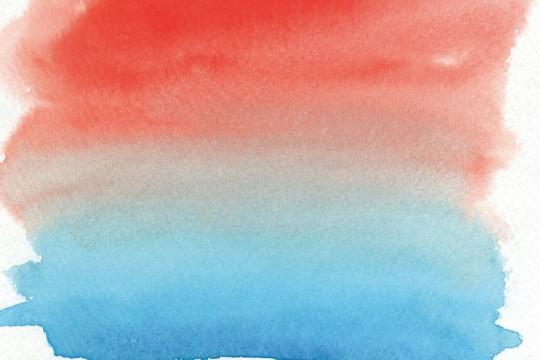 赤と青の水彩のテクスチャ