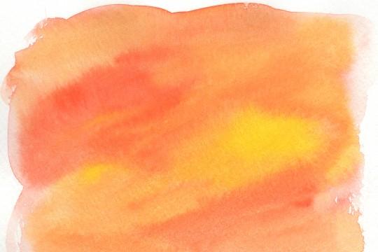 オレンジ色の水彩のテクスチャ2