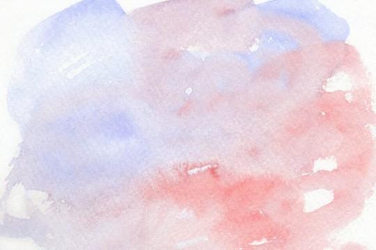 薄い青と赤の水彩のテクスチャ