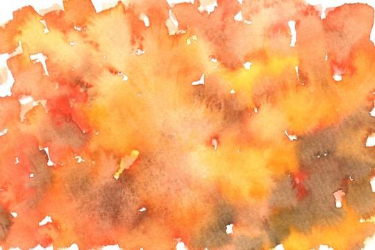 茶色とオレンジ色の水彩のテクスチャ