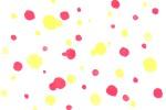 ピンクと黄色の水玉の水彩テクスチャ