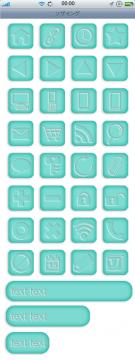 スマートフォンサイト ボタン/アイコンセット 5