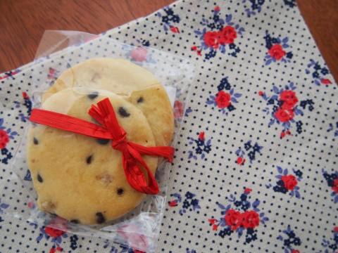 リボンのかかったクッキー
