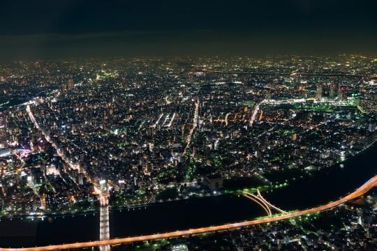 東京スカイツリーから見える夜景