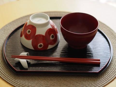 赤い和食器