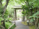 庭園に続く門