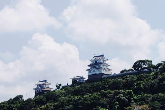 夏の平戸城
