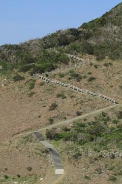 ジグザグの階段