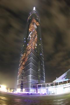 ライトアップされた福岡タワー