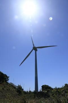 風力発電の風車2
