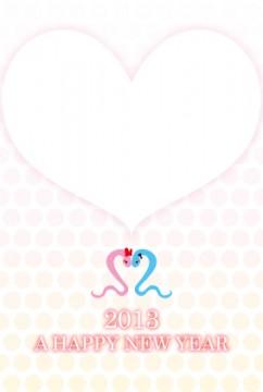 2013年 巳年年賀状 12