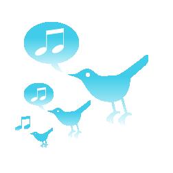 つぶやく青い鳥