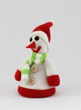 サンタクロースの格好をした雪だるま人形