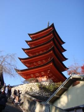 宮島の五重塔