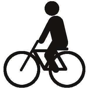 ピクトグラム 自転車に乗る1