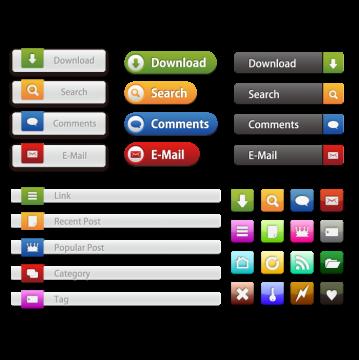 Webサイト用ボタン、アイコン1