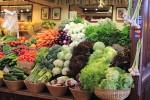 市場の野菜
