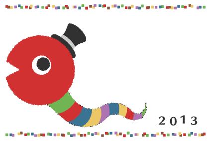 2013年 巳年年賀状 2