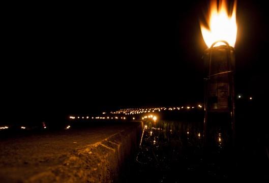 棚田の火祭