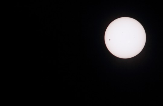 金星の太陽面通過2