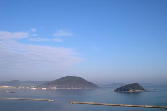 鏡山から見た唐津湾の島