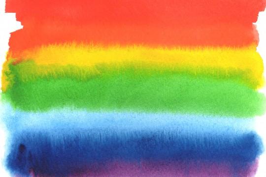 虹色の水彩のテクスチャ