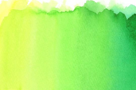 緑のグラデーションの水彩のテクスチャ