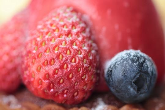 イチゴとブルーベリー