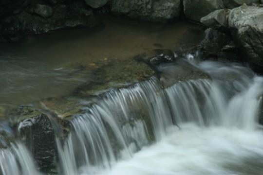長野市浅川ループ橋下の渓流2