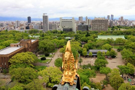 大阪城からの景観