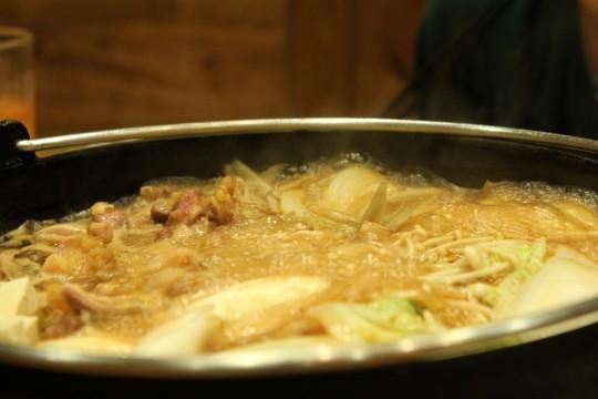 煮立った鍋